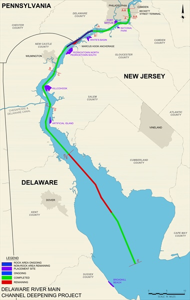 Delaware River Main Channel 45ft Deepening Project